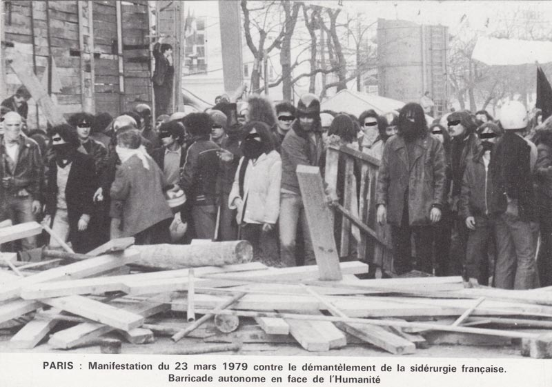 Photo de la manif du 23 mars 1979 à Paris.
