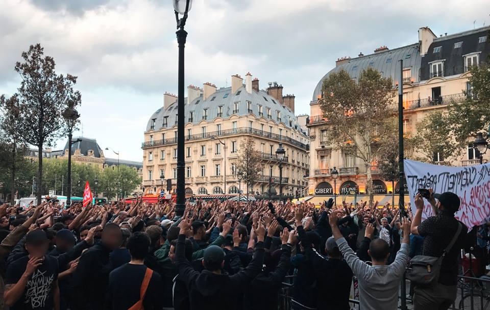 Manifestation d'hommage à Clément Méric, Place St-Michel, septembre 2018