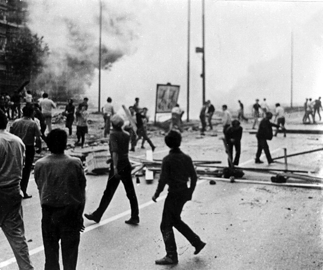 affrontements Piazza Statuto 1962