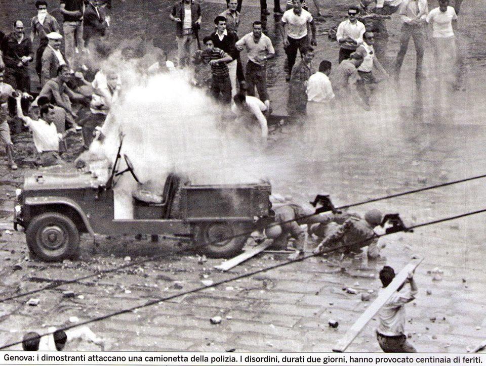 Gênes 1960 émeute contre le congrès du MSI