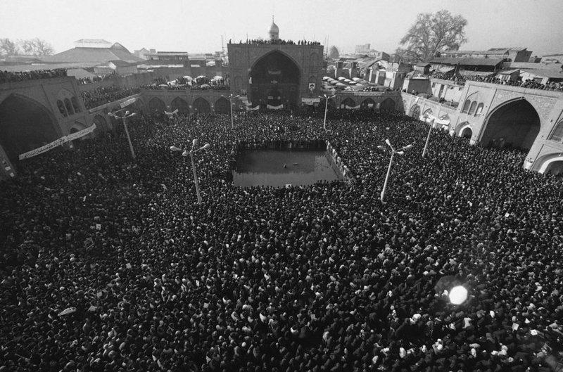 Révolution iranienne, image de rassemblement en 1979