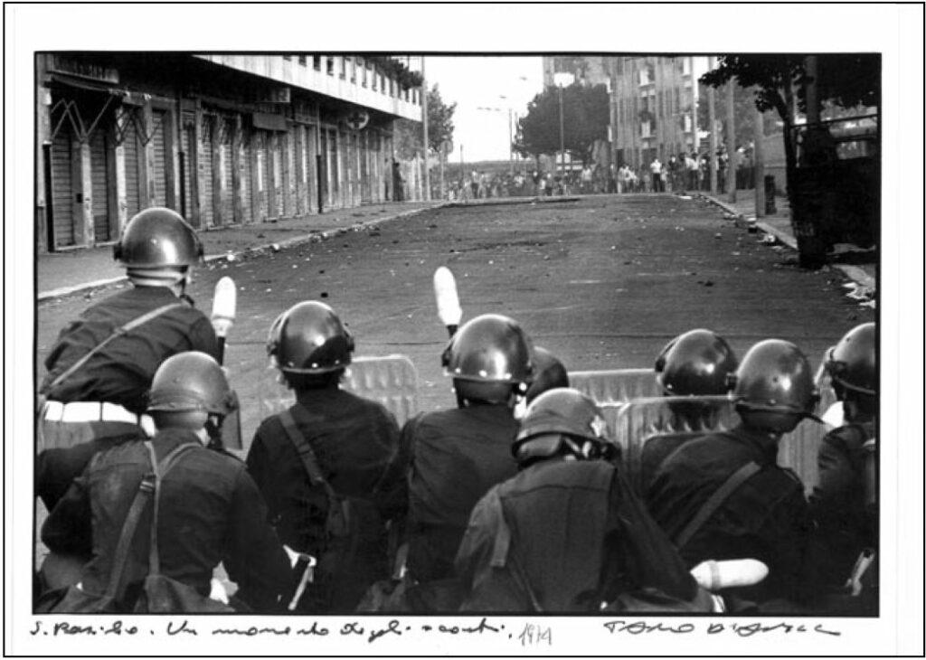 Affrontements dans le quartier de San Basilio