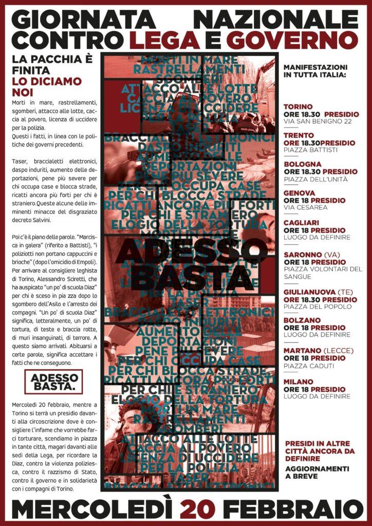Affiche pour la mobilisation contre le gouvernement