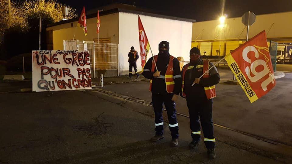 Salariés Geodis en grève