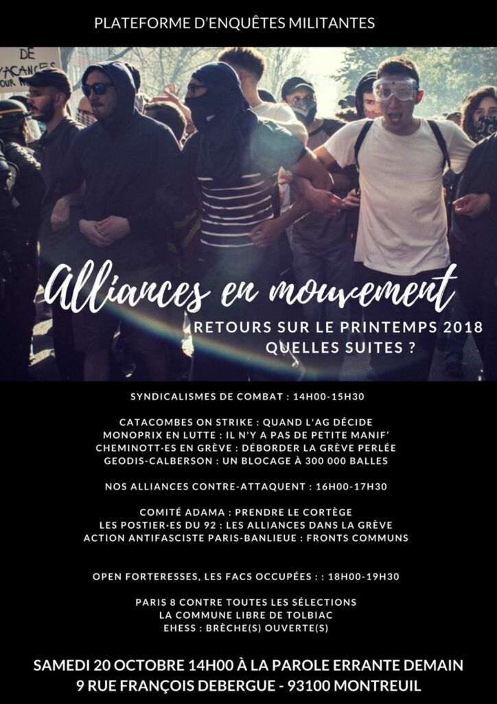 "Affiche ""alliances en mouvement"""