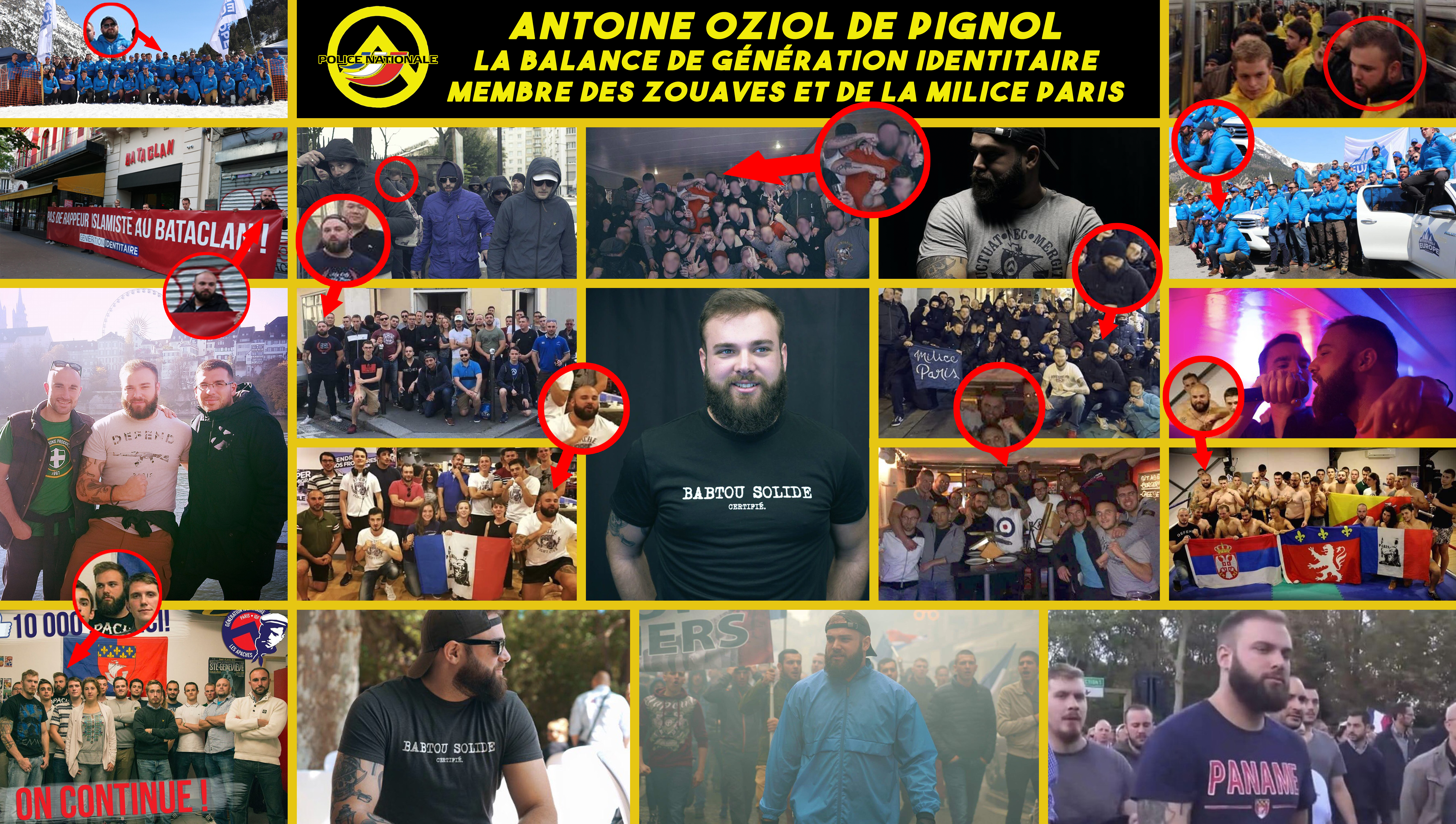 Qui est Antoine Oziol de Pignol, le fasciste qui porte plainte contre Antonin Bernanos ?