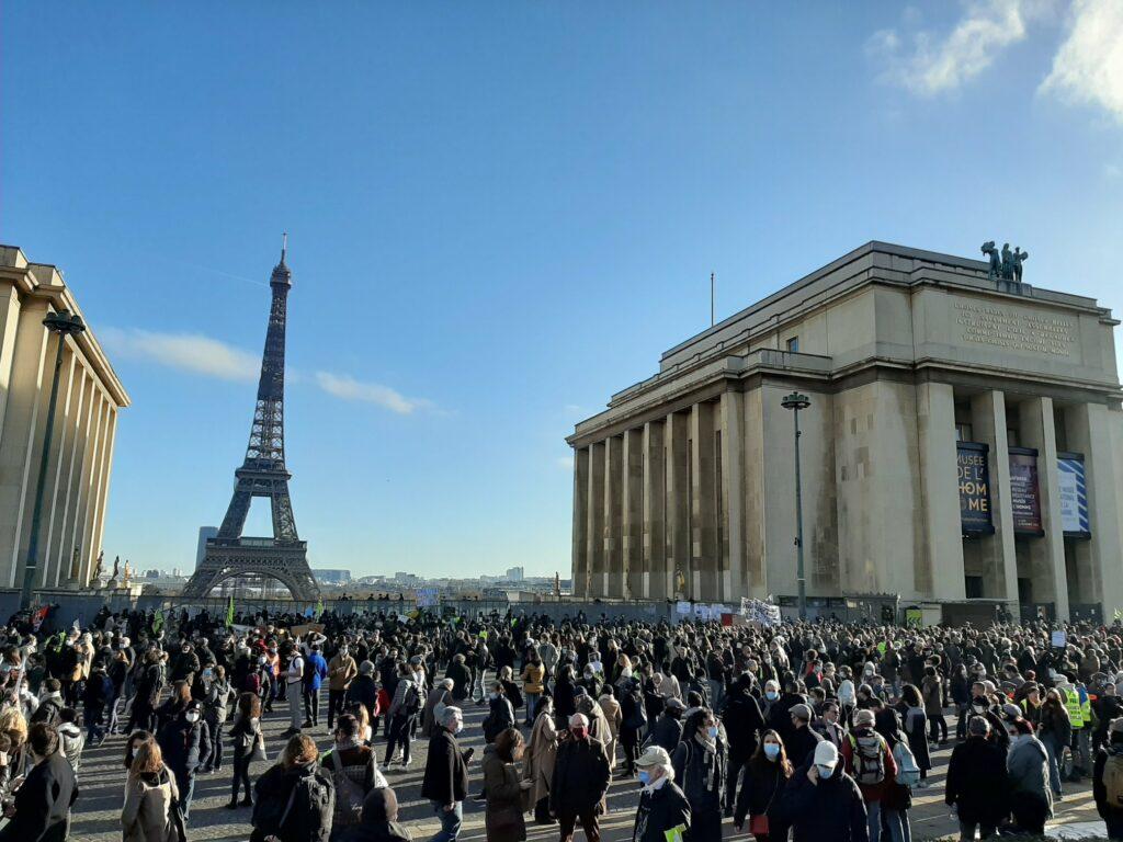 Trocadéro : Rassemblement massif contre la Loi Sécurité Globale